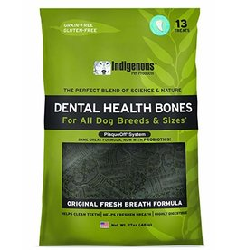Indigenous Health Bones Indigenous Dog Treats Dental Health Bones Original 17 oz
