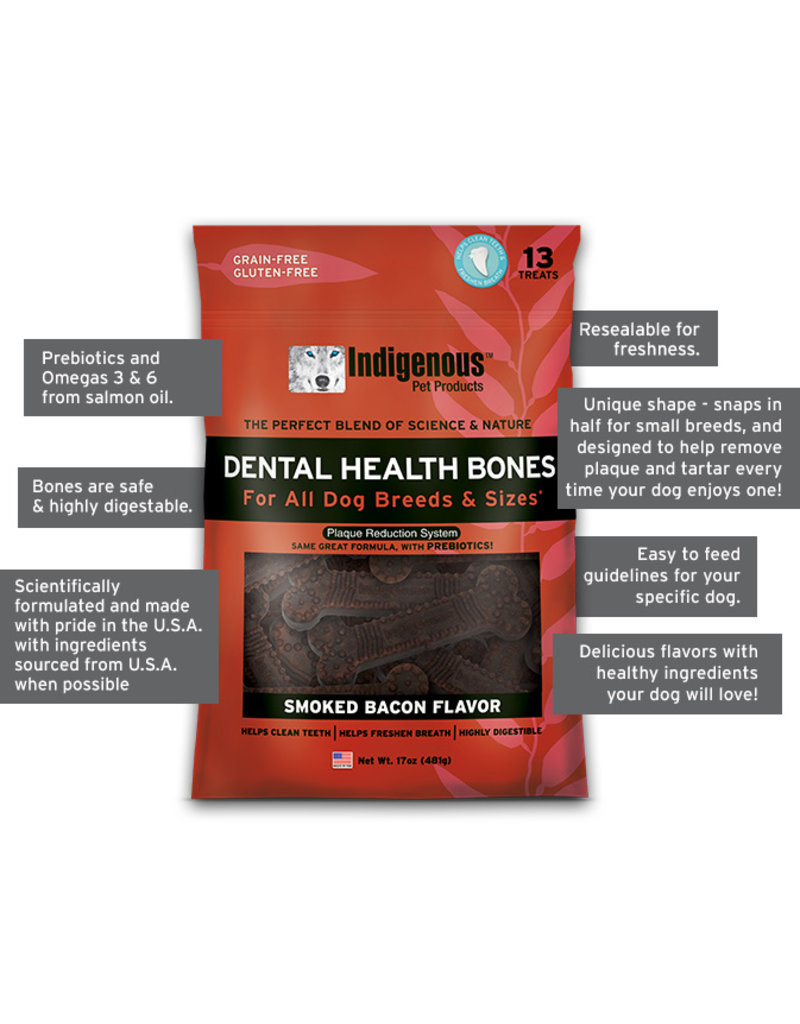 Indigenous Dog Treats Dental Health Bones Original 17 oz