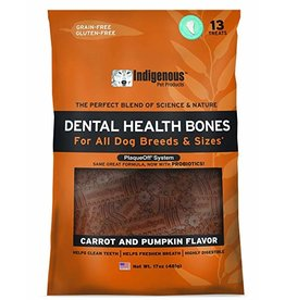 Indigenous Dog Treats Health Bones Carrot & Pumpkin Flavor 17 oz
