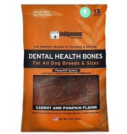 Indigenous Dog Treats Health Bones Carrot & Pumpkin Flavor 17 oz