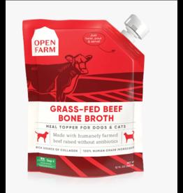 Open Farm Open Farm Bone Broth Grass-Fed Beef 12 oz CASE