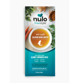 Nulo Nulo Freestyle Wild-Caught Salmon Bone Broth 2 oz Pouch CASE
