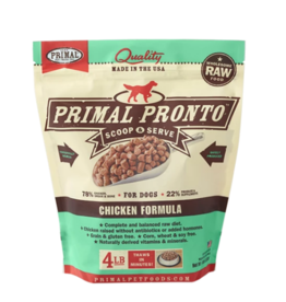 Primal Pet Foods Primal Raw Frozen Pronto Dog Food Chicken 0.75 lb Small Bites Trial (*Frozen Products for Local Delivery or In-Store Pickup Only. *)