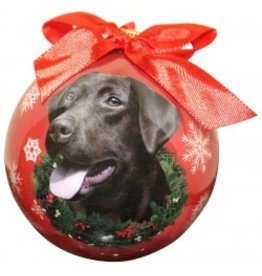 E&S Pets Christmas Ornament Chocolate Labrador