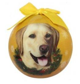 E&S Pets E&S Pets Christmas Ornament Yellow Labrador