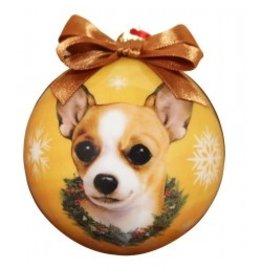 E&S Pets Christmas Ornament Tan Chihuahua