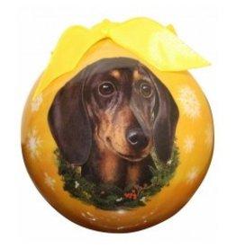 E&S Pets Christmas Ornament Black Dachshund