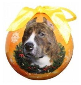 E&S Pets Christmas Ornament Brindle Pit Bull