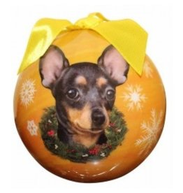 E&S Pets Christmas Ornament Black Chihuahua