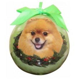 E&S Pets Christmas Ornament Pomeranian