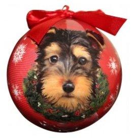 E&S Pets Christmas Ornament Yorkie Puppy