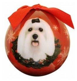 E&S Pets Christmas Ornament Maltese