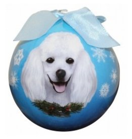 E&S Pets E&S Pets Christmas Ornament White Poodle