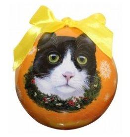 E&S Pets Christmas Ornament Black & White Cat