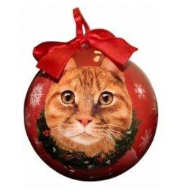 E&S Pets Christmas Ornament Orange Tabby Cat