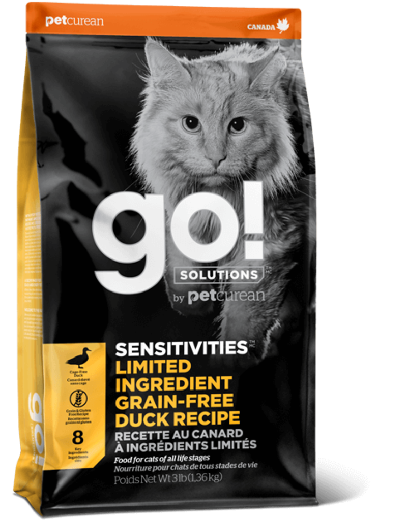 Petcurean GO! Cat Kibble Sensitivities: LID Duck 16 lb