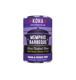 Koha Koha Canned Dog Food CASE Memphis Barbeque 12.7 oz