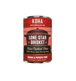 Koha Koha Canned Dog Food CASE Lone Star Brisket 12.7 oz