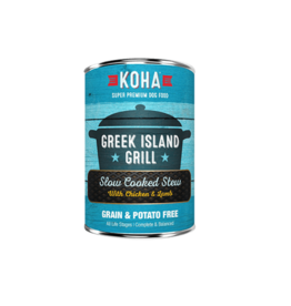 Koha Koha Canned Dog Food CASE Greek Island Grill 12.7 oz