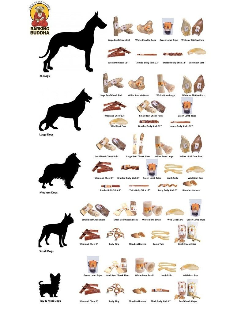 Barking Buddha Pet Products Barking Buddha Lamb Tail Chew Single