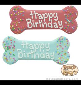 "Bosco and Roxy's Bosco & Roxy's Birthday Collection | Birthday Bone Pink / Blue 8"" single"