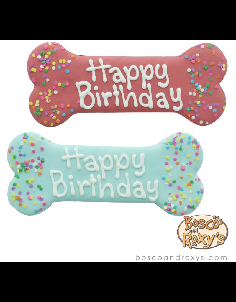 "Bosco and Roxy's Bosco & Roxy's Birthday Collection   Birthday Bone Pink / Blue 8"" single"
