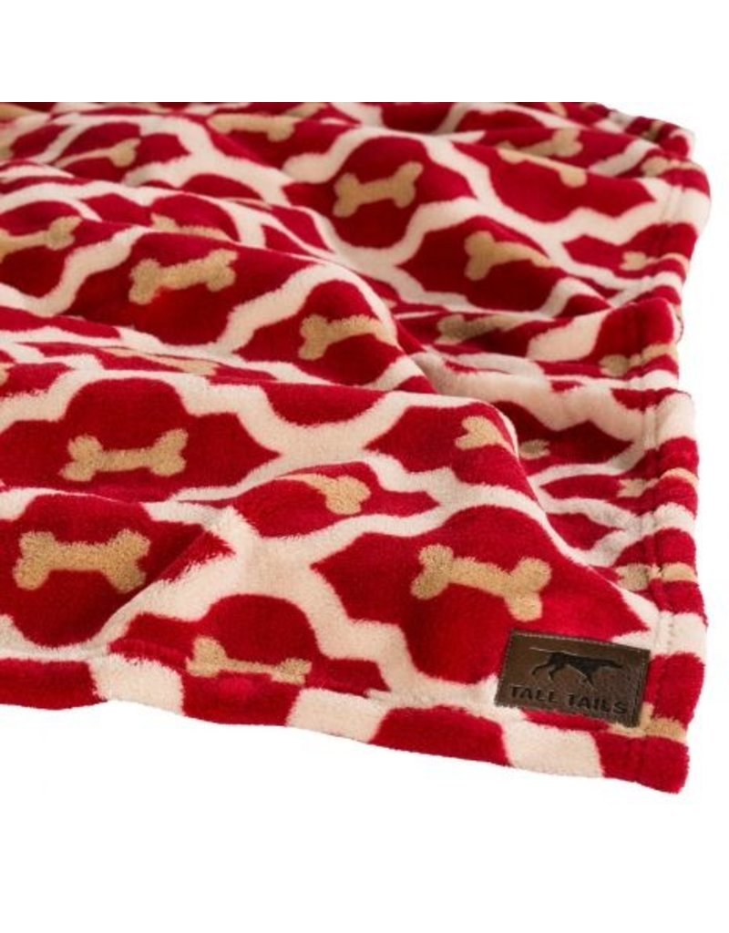 "Tall Tails Tall Tails Fleece Throw 40"" x 60"" Red Bone"