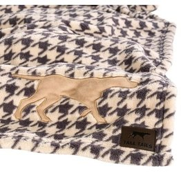 "Tall Tails Tall Tails Fleece Throw 40"" x 60"" Houndstooth"