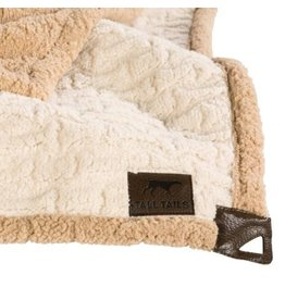 "Tall Tails Tall Tails Fleece Throw 40"" x 60"" Embossed Bone Cream"
