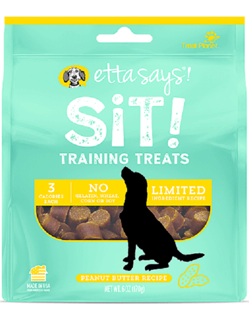 Etta Says Etta Says Sit! Dog Training Treats Peanut Butter 6 oz
