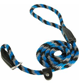 OmniPet OmniPet British Rope Slip Lead Blue/Black/Silver 6 ft