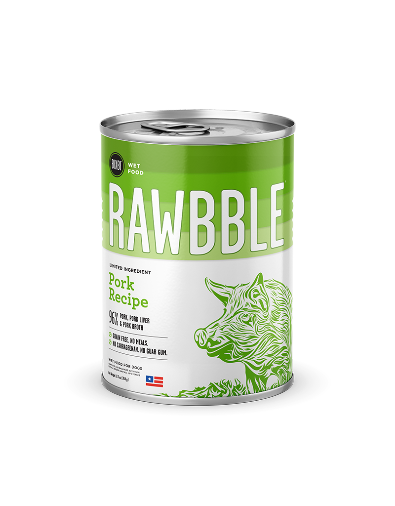 Bixbi Bixbi Rawbble Canned Dog Food Pork 12.5 oz CASE