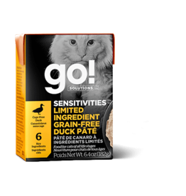 Petcurean Petcurean Go! Canned Cat Food Sensitivities Grain Free Duck Pate 6.4 oz CASE