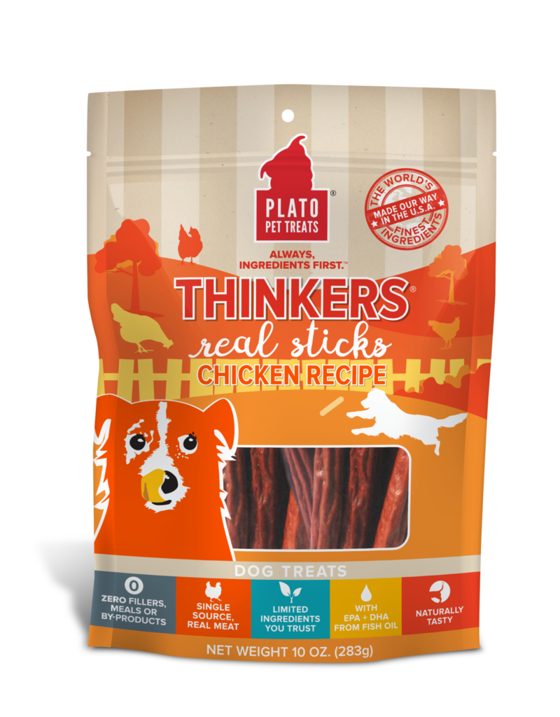 Plato Plato Thinkers Dog Treats Chicken 18 oz