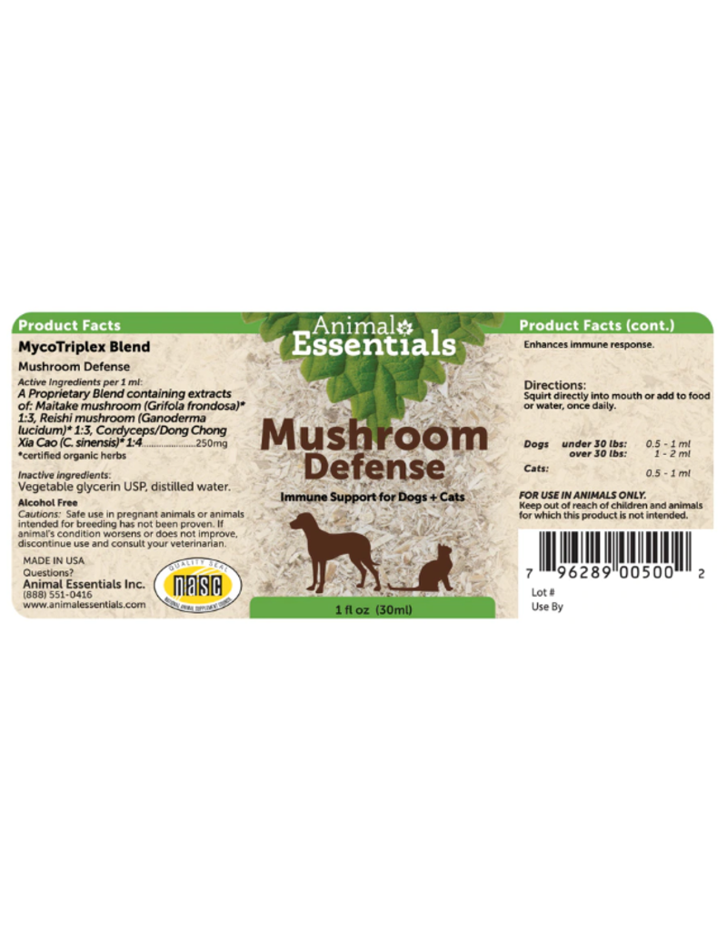 Animal Essentials Animal Essentials Tinctures Mushroom Defense Myco Triplex 8 oz