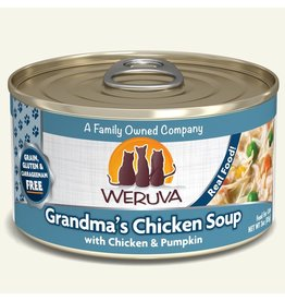 Weruva Weruva Classics Canned Cat Food CASE  Grandma's Chicken Soup 3 oz