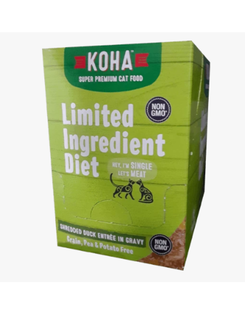 Koha Koha LID Premium Cat Food Shredded Duck 2.8 oz Pouch single