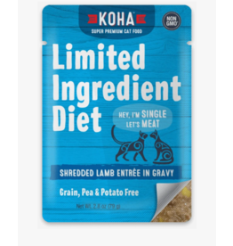 Koha Koha LID Premium Cat Food Shredded Lamb 2.8 oz Pouch single