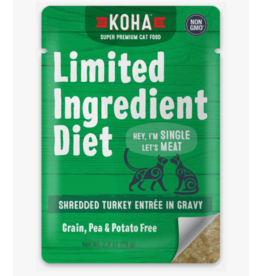 Koha Koha LID Premium Cat Food Shredded Turkey 2.8 oz Pouch single