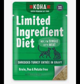 Koha Koha LID Premium Cat Food | CASE Shredded Turkey 2.8 oz Pouch