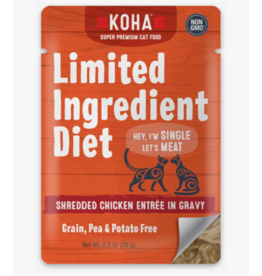 Koha Koha LID Premium Cat Food | CASE Shredded Chicken 2.8 oz Pouch