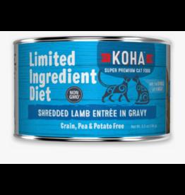 Koha Koha LID Premium Cat Food | CASE Shredded Lamb 5.5 oz Can