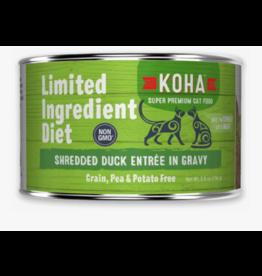 Koha Koha LID Premium Cat Food | CASE Shredded Duck 5.5 oz Can