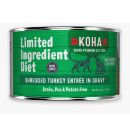 Koha Koha LID Premium Cat Food | CASE Shredded Turkey 5.5 oz Can