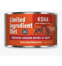 Koha Koha LID Premium Cat Food | CASE Shredded Chicken 5.5 oz Can