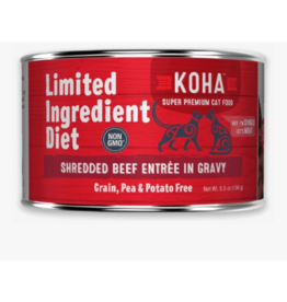 Koha Koha LID Premium Cat Food | Shredded Beef 5.5 oz Can single