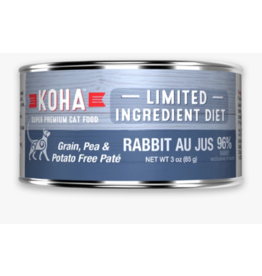Koha Koha Canned Cat Food CASE Rabbit Pate 3 oz