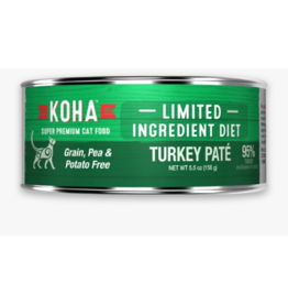 Koha Koha Canned Cat Food CASE Turkey Pate 5.5 oz