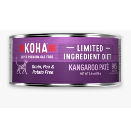 Koha Koha Canned Cat Food CASE Kangaroo Pate 5.5 oz