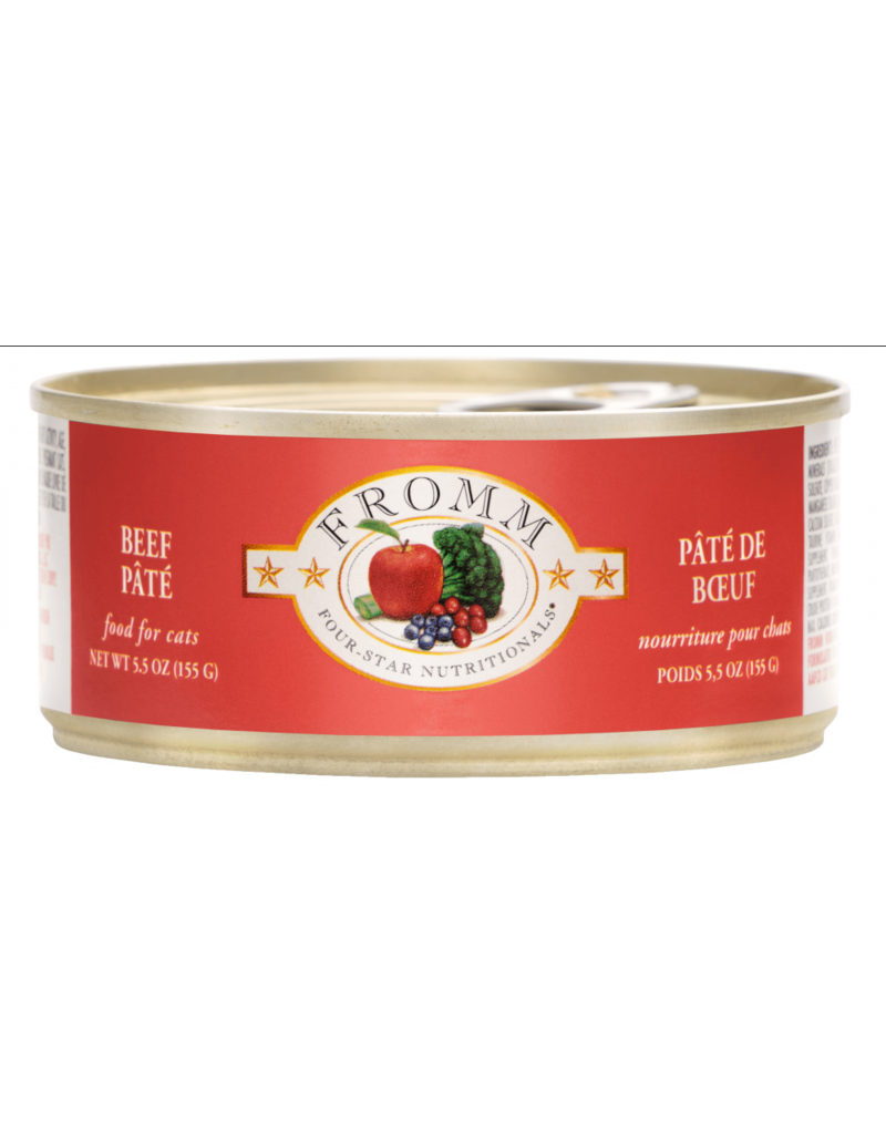 Fromm Fromm Four Star Canned Cat Food CASE 12 Beef Pate 5.5 oz